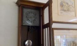 Antique Wall Mounted clock with on the hour and half