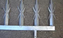 Galvanized wall spikes from R100 PER METER Spikes for