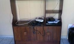Wood wall unit Very good condition With key works on