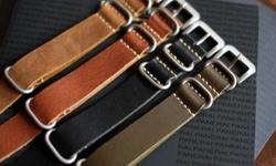 Genuine leather replacement straps for all watches .