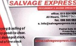 We are a salvage and procurement company and buy any