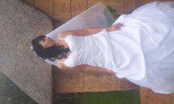Beskrywing beautiful white second hand wedding dress