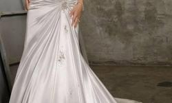 Beskrywing Beautiful!! White Satin, A-line wedding