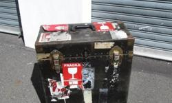 Antique upright case for sale. Well travelled - comes