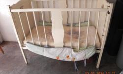 complete baby cot  with mattres and side padding good