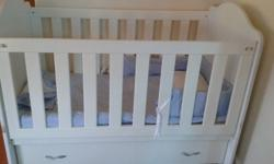 Hi, i have a white cot for sale. solid,and strong.