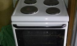White Defy Kitchenaire 621 solid plate stove with oven