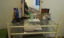 WHITE DRESSING TABLE WITH MIRROR R300 EXCELLENT
