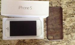 White Iphone 5 16GB in Immaculate condition with