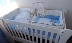I have a beautiful LARGE white wooden cot for sale. It
