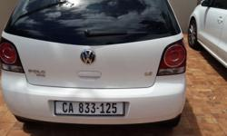 I'm offering a White Polo Vivo 1.6 with just over 11