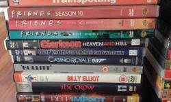 ALL ORIGINAL Movie & Series DVD's for sale. Good