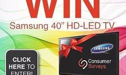 "ENTER FREE TO WIN A SAMSUNG 40"" HD -LED TV - JUST GO TO"