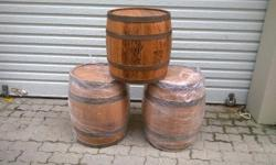 I have 3 Wine / whisky oak barrels new condition