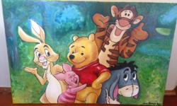 Winnie the Pooh - painted by my sister-in-law. My kids