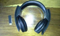 A wireless stereo headset for PS3. Also works on a PC.