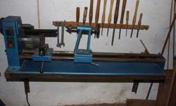 Fragram wood lathe for sale. Wall bracket included.