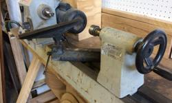 Tool Mate wood lathe. Sturdy ,solid base in good