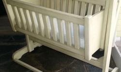 Wooden baby crib, in very good condition.  Comes with