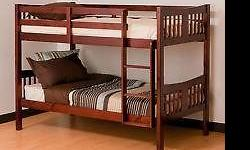 wooden bunk bed similar to the one on the photo second