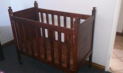 Wooden Cot with sliding side panel and with new