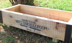 These attractive timber boxes are ideal for starting