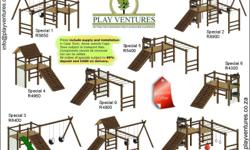 BEST QUALITY WOODEN JUNGLE GYMS SUPPLIED AND INSTALLED