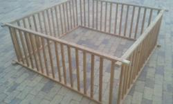 Wooden Play Pen 2x2m - Easy to assemble and easy to