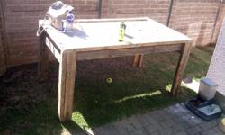 Wooden Table 1.6 x 1.3 meter
