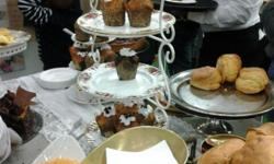 Handmade wrought iron cakestands, 2 tier or 3 tier.