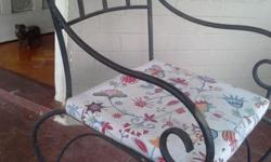 Wrought iron chair and base cushion Excellent condition