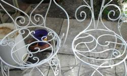 Decorative handmade wrought iron chairs for sale from