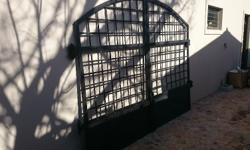 Beautiful Wrought iron gates. Fits opening of 3 meters.
