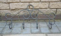 This wrought iron towel rail is stunning � perfect for