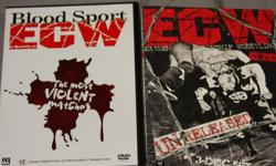 ecw dvds bloodsport ecw 2disc dvd plus a new rea;ease