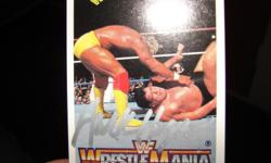 HULK HOGAN HANDSIGNED AUTOGRAPHED CARD PLUS HIS BIO