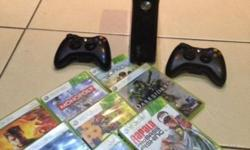 Hi I am selling my X box 360 with two controls and