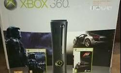 Xbox 360 120Gb elite like brand new with Box an all