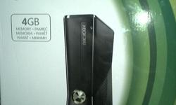 xbox 360 as new, with 4 games, 2 remotes, remote
