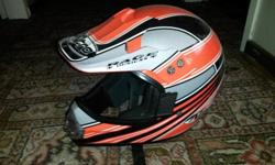 XL ORANGE / BLACK / SILVER/ WHITE OFF-ROAD HELMET FOR