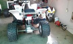 Yamaha rapter 660 nerv bars weele bar full fmf system