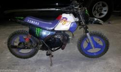 Selling a Yamaha PW50 this is not the best looking PW,