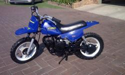 YAMAHA PW 50cc Two stroke kids scrambler. Just been