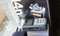 Zoom H4n recorder with a Samson Pro level lav mic. The